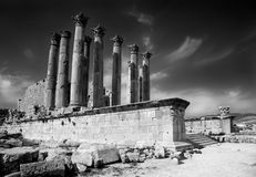 ναός artemis jerash στοκ φωτογραφίες