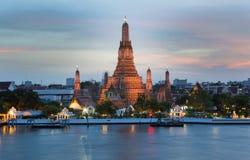 Ναός Arun, μέτωπο ποταμών ορόσημων της Μπανγκόκ Ταϊλάνδη στοκ εικόνες με δικαίωμα ελεύθερης χρήσης