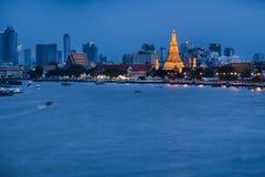 Ναός Arun Wat στο ηλιοβασίλεμα στη Μπανγκόκ Ταϊλάνδη Το Wat Arun είναι ένας βουδιστικός ναός στοκ φωτογραφίες με δικαίωμα ελεύθερης χρήσης