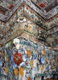Ναός Arun Wat της Dawn Mosaic Decoration Detail Στοκ φωτογραφία με δικαίωμα ελεύθερης χρήσης