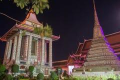 Ναός Arun Wat τη νύχτα στη Μπανγκόκ, Ταϊλάνδη στοκ εικόνες