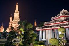 Ναός Arun Wat τη νύχτα στη Μπανγκόκ, Ταϊλάνδη στοκ φωτογραφία με δικαίωμα ελεύθερης χρήσης