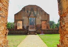 Ναός Ayudhya Roadto Στοκ Φωτογραφίες