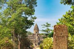 Ναός Bakong σε Angkor σύνθετο, Καμπότζη Στοκ Φωτογραφία