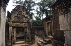 Ναός BANTEAY SREI, ευρέως που εγκωμιάζεται ως πολύτιμος πολύτιμος λίθος ` `, ή κόσμημα ` της Khmer τέχνης ` Στοκ εικόνες με δικαίωμα ελεύθερης χρήσης