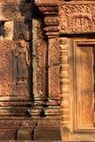 Ναός Banteay Srei σε Angkor Στοκ Φωτογραφίες