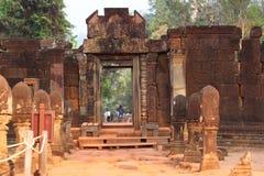 Ναός Banteay Srei σε Angkor Στοκ Φωτογραφία