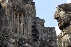 Ναός Bayon γλυπτικών προσώπου πετρών Στοκ Φωτογραφία