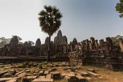Ναός Bayon ιστορικό σε σύνθετο Angkor Wat στοκ εικόνες