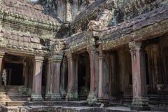Ναός Bayon ιστορικό σε σύνθετο Angkor Wat στοκ εικόνα