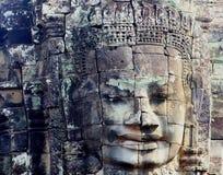 Ναός Bayon προσώπου λεπτομερειών, Angkor Thom, Καμπότζη Στοκ Εικόνα
