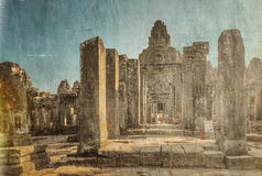 Ναός Bayon σε Angkor Wat σύνθετο Στοκ Εικόνα
