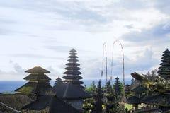Ναός Besakih Pura σύνθετος στο ηλιοβασίλεμα στο Μπαλί, Ινδονησία στοκ εικόνα με δικαίωμα ελεύθερης χρήσης
