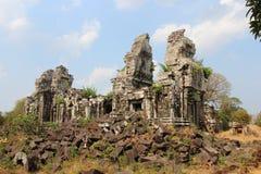 Ναός Bok Phnom Καμπότζη η banteay λίμνη της Καμπότζης angkor lotuses συγκεντρώνει siem το ναό srey Στοκ φωτογραφία με δικαίωμα ελεύθερης χρήσης