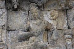 Ναός Borobudur ανακούφισης Στοκ Φωτογραφίες