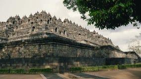 Ναός Borobudur το βράδυ απόθεμα βίντεο