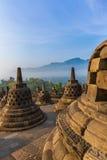 Ναός Buddist Borobudur - νησί Ιάβα Ινδονησία Στοκ φωτογραφία με δικαίωμα ελεύθερης χρήσης