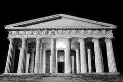 Ναός Canova της άποψης νύχτας Εικόνα που αλλάζουν ψηφιακά Στοκ φωτογραφίες με δικαίωμα ελεύθερης χρήσης