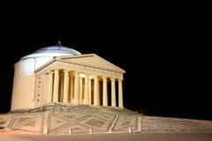 Ναός Canova της άποψης νύχτας στήλες Ρωμαίος Στοκ εικόνα με δικαίωμα ελεύθερης χρήσης