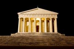 Ναός Canova της άποψης νύχτας στήλες Ρωμαίος Στοκ εικόνες με δικαίωμα ελεύθερης χρήσης
