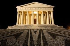 Ναός Canova της άποψης νύχτας στήλες Ρωμαίος Στοκ φωτογραφίες με δικαίωμα ελεύθερης χρήσης