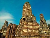 Ναός Chaiwatthanaram Wat στο ιστορικό πάρκο Ayuthaya, μια περιοχή παγκόσμιων κληρονομιών της ΟΥΝΕΣΚΟ στην Ταϊλάνδη στοκ εικόνες