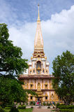 Ναός Chalong στο νησί Phuket, Ταϊλάνδη Στοκ φωτογραφίες με δικαίωμα ελεύθερης χρήσης