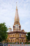 Ναός Chalong στο νησί Phuket, Ταϊλάνδη Στοκ Εικόνα