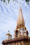 Ναός Chalong στο νησί Phuket, Ταϊλάνδη Στοκ Εικόνες
