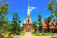 Ναός Chalong Wat Στοκ Φωτογραφία