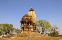 Ναός Chaturbhuja, νότια ομάδα ναών Khajuraho, Ινδία Στοκ Εικόνες