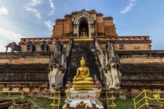 Ναός Chedi Luang, Ταϊλάνδη Στοκ Εικόνα