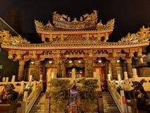 Ναός Chinatown τη νύχτα στοκ φωτογραφία με δικαίωμα ελεύθερης χρήσης