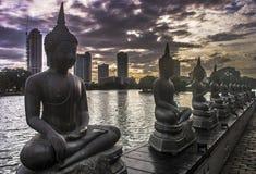 Ναός Colombo Σρι Λάνκα Gangaramaya Στοκ εικόνα με δικαίωμα ελεύθερης χρήσης