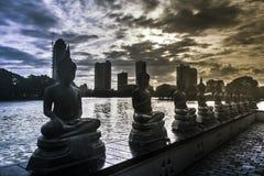 Ναός Colombo Σρι Λάνκα Gangaramaya στοκ εικόνες