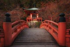 Ναός Daigo-daigo-ji το φθινόπωρο στοκ φωτογραφίες με δικαίωμα ελεύθερης χρήσης