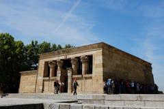 Ναός Debod - της Μαδρίτης Στοκ Εικόνες
