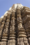 Ναός Duladeo πύργος-Sikhara, Khajuraho, που διακοσμείται με τα αγάλματα Στοκ Εικόνες