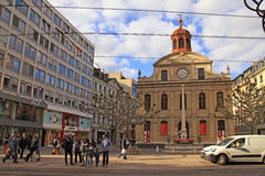 Ναός Fusterie στη Γενεύη, Ελβετία Στοκ Φωτογραφία