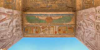 Ναός Habu Medinet σε Luxor, Αίγυπτος στοκ φωτογραφία με δικαίωμα ελεύθερης χρήσης