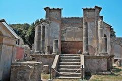 Ναός Iside στη archeological περιοχή της Πομπηίας Στοκ εικόνες με δικαίωμα ελεύθερης χρήσης