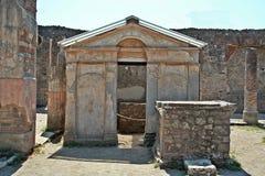 Ναός Iside στη archeological περιοχή της Πομπηίας Στοκ Φωτογραφίες