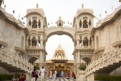 Ναός ISKCON Krishna Balarama σε Vrindavan στοκ φωτογραφία με δικαίωμα ελεύθερης χρήσης