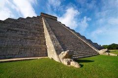 Ναός Itza EL Templo Kukulcan Chichen Στοκ Εικόνες