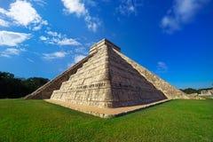 Ναός Itza EL Templo Kukulcan Chichen Στοκ Φωτογραφία
