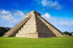 Ναός Itza EL Templo Kukulcan Chichen Στοκ Φωτογραφίες