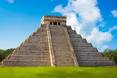 Ναός Itza EL Templo Kukulcan Chichen Στοκ φωτογραφία με δικαίωμα ελεύθερης χρήσης