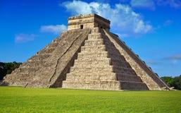 Ναός Itza EL Templo Kukulcan Chichen Στοκ Εικόνα