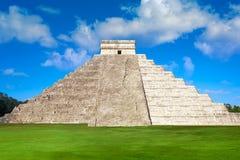 Ναός Itza EL Templo Kukulcan Chichen Στοκ εικόνα με δικαίωμα ελεύθερης χρήσης