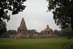 Ναός Jagdambi, Khajuraho, Ινδία Στοκ φωτογραφία με δικαίωμα ελεύθερης χρήσης